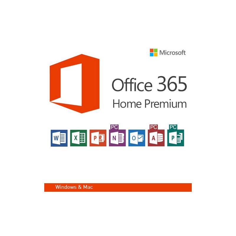 microsoft office 365 home premium de version 32 i 64 bit mlk. Black Bedroom Furniture Sets. Home Design Ideas