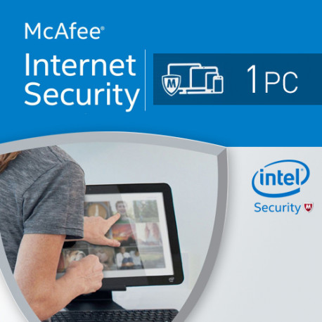 McAfee Internet Security 2018 1 PC licencja na rok