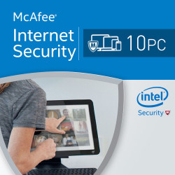 McAfee Internet Security 2018 10 PC licencja na rok