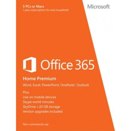 Office 365 Home Premium, 32/64 Bit, (5PCs/MACs - 1 Jahres-Abonnement), ESD, Download Software, Win/Mac, Multilingual